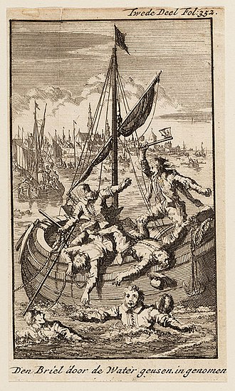 Eighty Years' War - Capture of Brill in 1572 by Jan Luyken