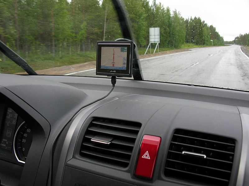 GPS unit on dash
