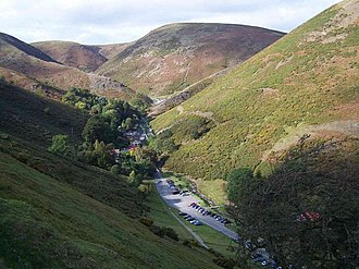 Church Stretton - Carding Mill Valley, named after the textile mill there, now a notable tourist spot