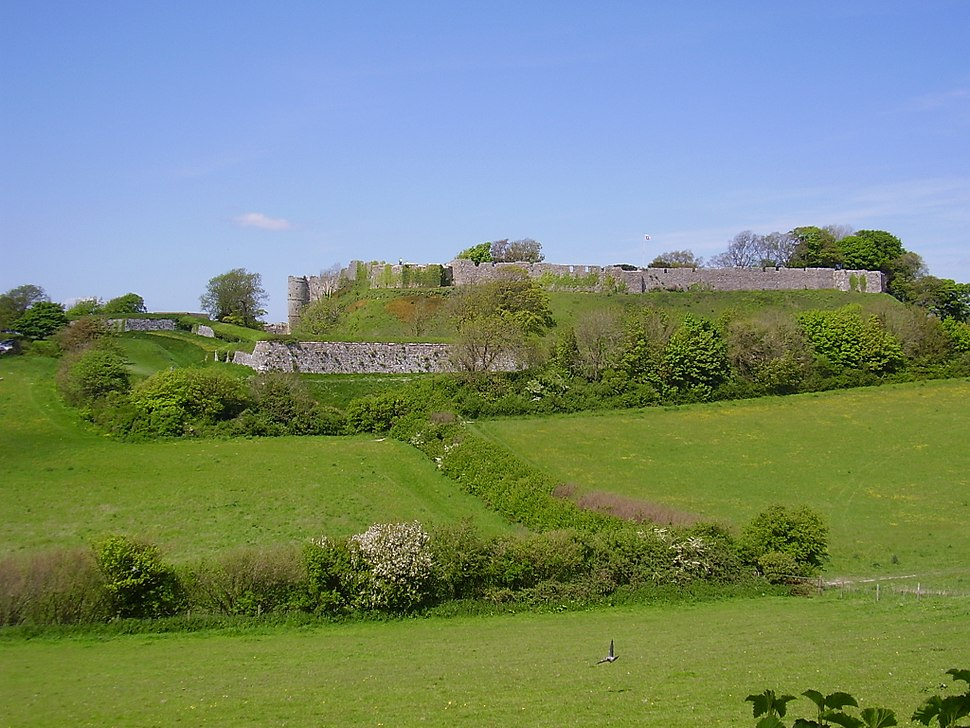 Carisbrooke Castle from south