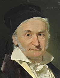 Johann Carl Friedrich Gauss (1777-1855), painted by Christian Albrecht Jensen