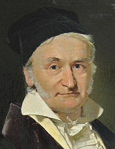 Carl Friedrich Gauss, painted by Christian Albrecht Jensen