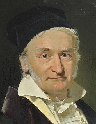 Seconds pendulum - Portrait of the mathematician and philosopher Carl Friedrich Gauss