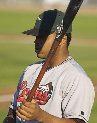 Carlos Santana (baseball) - Santana with the Great Lakes Loons in 2007