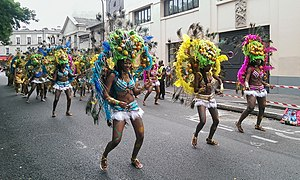 Music of Guadeloupe - A band from Guadeloupe during the 2014 Tropical Carnival of Paris
