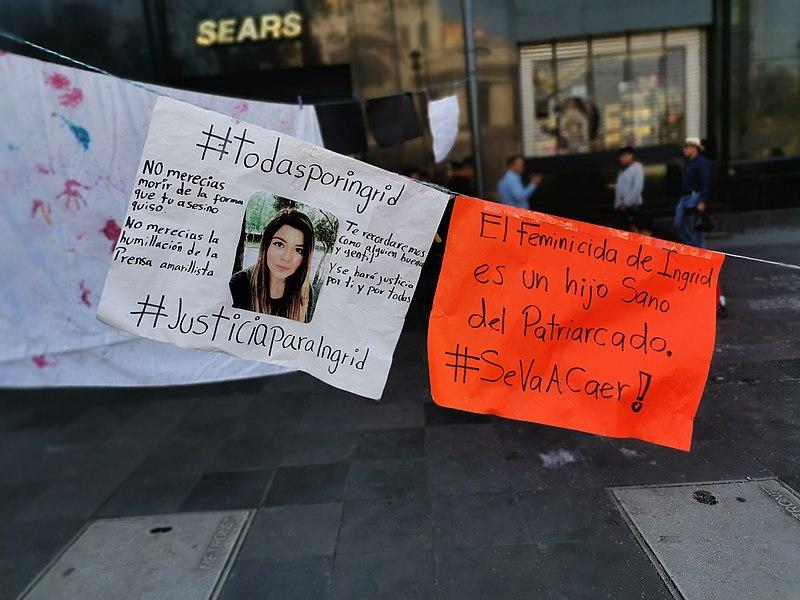 File:Carteles de protesta por el feminicidio de Ingrid Escamilla 01.jpg