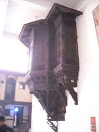 Carved Wooden Jharokha(Balcony).JPG
