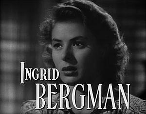 Screenshot of Ingrid Bergman in credits sectio...