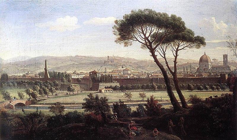 Файл: Каспар ван Wittel - Вид на Флоренцию с Via болонской - WGA25831.jpg