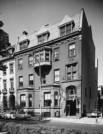 Alexander Cassatt - Cassatt's Rittenhouse Square townhouse at 202 South 19th St., Philadelphia, PA (demolished 1972). Now the site of The Rittenhouse Hotel.