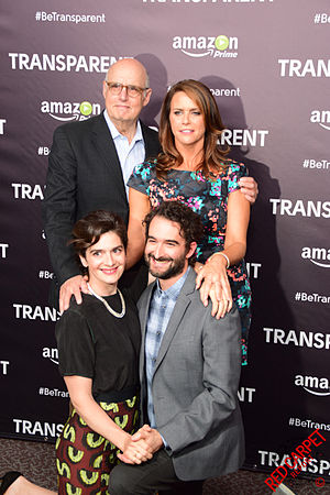 Gaby Hoffmann - Hoffmann (bottom left). She is seen here with fellow cast members of Transparent in 2015
