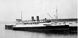 Catala at Union Steamship dock in Vancouver BC.jpg