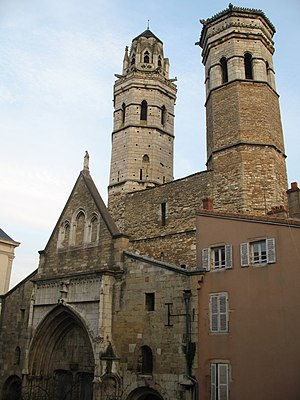 Ancient Diocese of Mâcon - The former cathedral of Vieux Saint-Vincent at Mâcon.