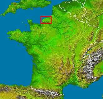 Pays de Caux - Location within France