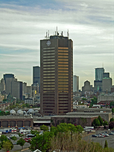 Maison Radio-Canada, Montreal, Headquarters of the CBC Radio-Canada's French language output Cbc-bldg.jpg
