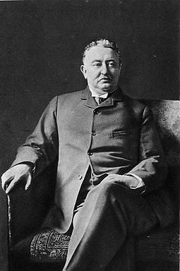Cecil John Rhodes, the 6th Prime Minister of the Cape Colony (divided between two provinces in modern-day South Africa) and founder of the De Beers diamond company. Cecil Rhodes - Project Gutenberg eText 16600.jpg