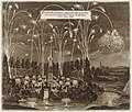 Celebration for the Elector Johann Georg II, Leipzig, July 8, 1667- Fireworks Display by Night MET DR296.jpg
