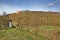 Celkový pohled na přírodní památku Kunštátská obora a zámek od jihozápadu, okres Blansko.jpg