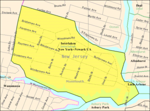 Interlaken, New Jersey - Image: Census Bureau map of Interlaken, New Jersey
