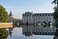 Château de Chenonceau - Façade Ouest et Tour des Marques reflets.jpg