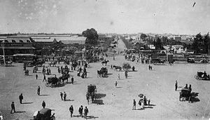 Buenos Aires Central Railway - Chacarita terminus, c. 1910.