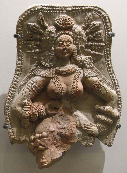 File:Chandraketugarth, epoca sunga, dea della fecondità, II-I sec. ac. 02.JPG