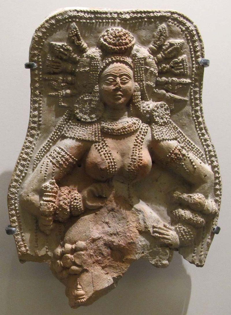 Chandraketugarth, epoca sunga, dea della fecondità, II-I sec. ac. 02.JPG