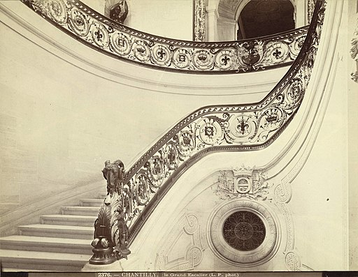 Chantilly, Condé Museum (Château de Chantilly). The Grand Staircase (3485969803)