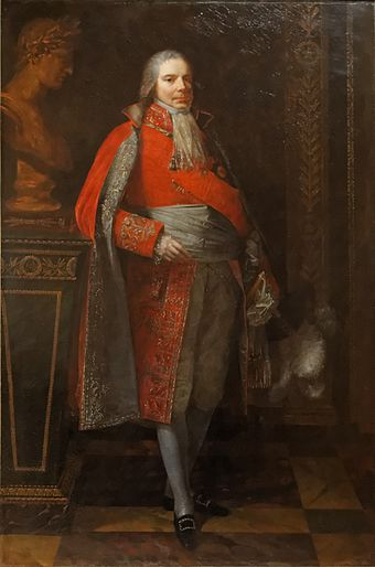 Portrait of Talleyrand as Grand Chamberlain of France by Pierre-Paul Prud'hon, 1807 Charles-Maurice de Talleyrand-Perigord, prince de Benevent by Pierre-Paul Prud'hon, musee Carnavalet 02.jpg