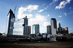 Charlotte Skyline From the Caldwell Street South Blvd bridge.jpg