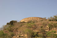 Chausath Yogini Temple, on the hill