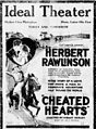 Cheated Hearts 1922 newspaper.jpg