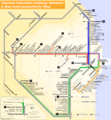Chennai suburban rail and bus interconnectivity map.png