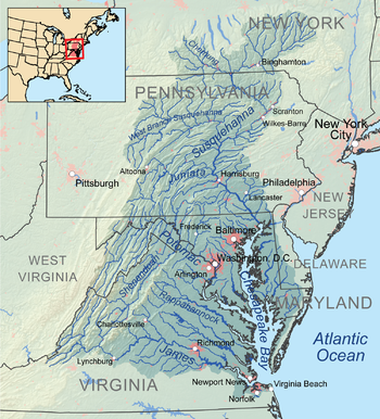 Image result for chesapeake bay watershed area