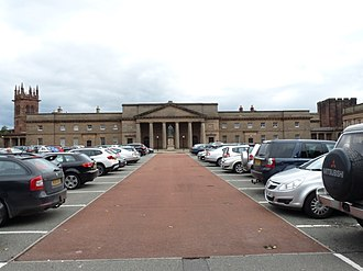 Listed buildings in Chester Castle parish - Image: Chester Castle outer bailey and Chester Crown Court building 01