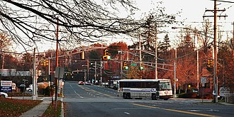 Montvale, New Jersey - The intersection of Chesnut Ridge Road and Grand Avenue