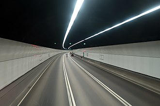Cheung Tsing Tunnel - Cheung Tsing Tunnel interior