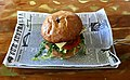 Chicken burger at Queen's Park Cafe, Ipswich, Queensland.jpg
