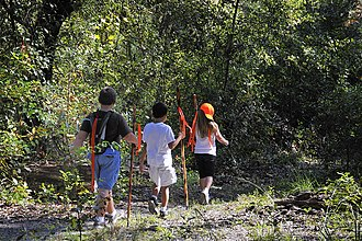 Etoniah Creek State Forest - Children hiking Florida Trail at Etoniah Creek State Forest, October 2009