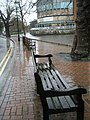 Chilly seats in Millmead looking towards Debenhams Restaurant - geograph.org.uk - 1078564.jpg