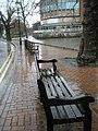 Chilly seats in Millmead looking towards Debenhams Restaurant - geograph.org.uk - 1078564.jpg