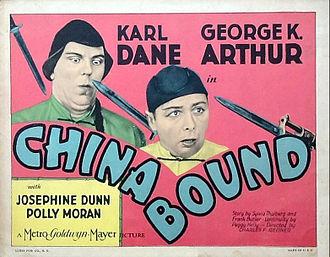 George K. Arthur - Lobby card for China Bound (1929)