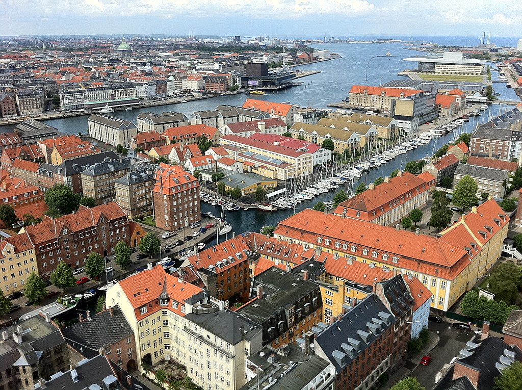 Vue sur Copenhague depuis l'église Vor Frelsers Kirke - Photo de L-BBE