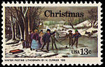 Christmas - Currier Winter Pastime 13c 1976 issue U.S. stamp.jpg