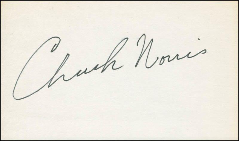 Chuck Norris signature