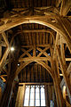 Church of St Laurence Blackmore Essex England - timbered tower interior 01.jpg