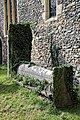 Church of St Nicholas, Ash-with-Westmarsh, Kent - churchyard barrel tomb.jpg