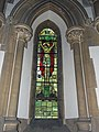 Church of the Holy Innocents, High Beach, Essex, England - chancel stained glass Crucifixion 1.jpg