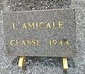 Cimetière de Villefranche-sur-Saône - Plaque Amicale Classe 1944 (2).jpg