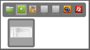 Cinnamon (software) - Image: Cinnamon 1.6 Alt Tab Window Previews